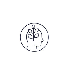 Personal growth line icon vector