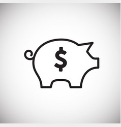 Piggy bank thin line on white background vector