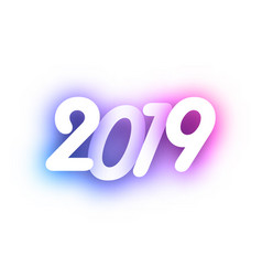 purple spectrum 2019 new year festive background vector image