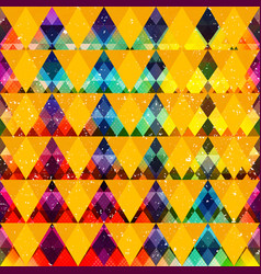 Rainbow triangle seamless pattern vector