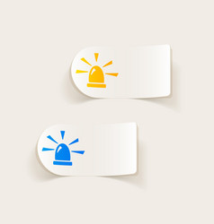 Realistic design element flasher vector