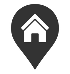 Realty Map Marker Flat Icon vector image