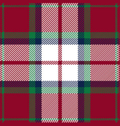 Red green and blue tartan plaid seamless pattern vector