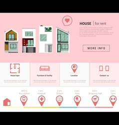 Residential banner and Infographic for web design vector