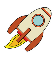Rocket launch spaceship technology vector