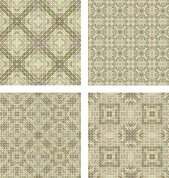 Seamless beige mosaic background set vector