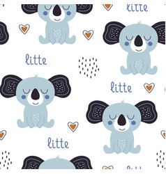 seamless pattern with cute koala vector image