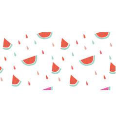 Seamless watermelon pattern fruit vector