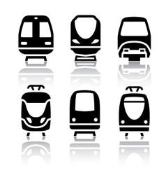 Set of transport icons - Train and Tram vector