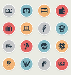 Set simple banking icons vector