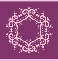 Six corner mandala made of curves and dots vector