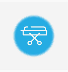 stretcher icon sign symbol vector image