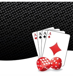 Stylized gambling background vector image