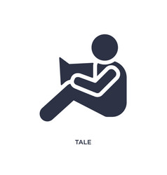 tale icon on white background simple element from vector image