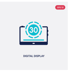Two color digital display 30 icon from education vector