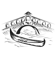 Venice gondola vector