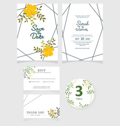 wedding invitation card template eps 10 vector image