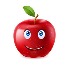 Cartoon apple vector image vector image