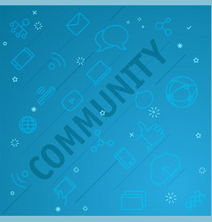 Community concept different thin line icons vector