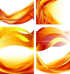 Set fire vector image vector image