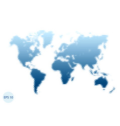 triangle world map blue map vector image vector image