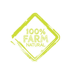 Farm label over green background vector