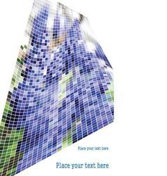 Green blue wave mosaic vector image vector image
