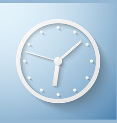 origami paper wall clock time vector image vector image