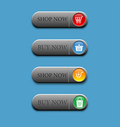 4 button shop now and buy now vector image