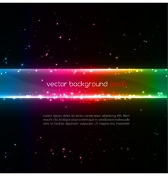 Abstract colorful glowing background vector image vector image
