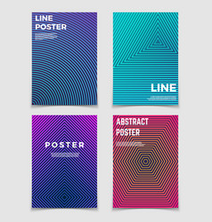 abstract geometric backgrounds with line vector image