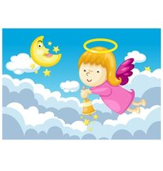 Angel in sky vector