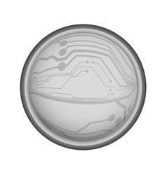 chip circuit icon vector image
