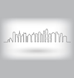 city skyline urban background vector image vector image
