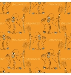 halloween seamless pattern with ghost vector image vector image