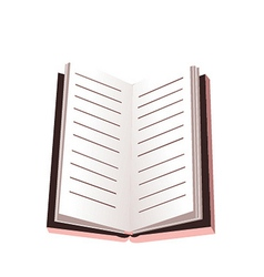 opened notebook isolated on white vector image vector image