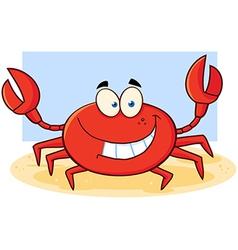 Beach crab cartoon vector image vector image