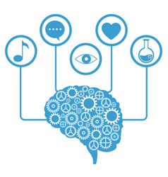 brain human gear learning icons vector image vector image