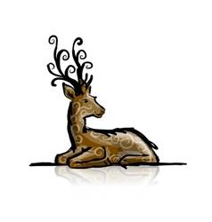 Deer sketch for your design vector image