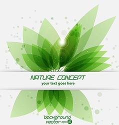 leaf concept 2 vector image vector image