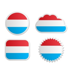 Luxembourg flag labels vector image vector image