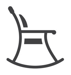 rocking chair solid icon furniture and interior vector image vector image