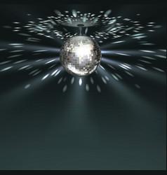 silver disco ball vector image vector image