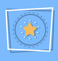 Star icon best prize award web button vector