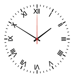 vintage clock isolated on white vector image