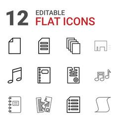 12 sheet icons vector