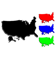 3d map of usa vector image
