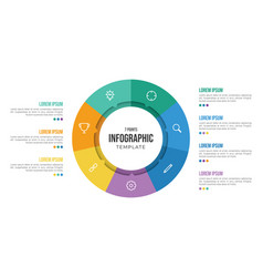 7 points circular infographic element template vector