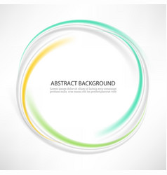 abstract blue green swirl circle bright vector image