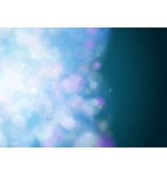 Abstract bokeh background Blue lights vector image